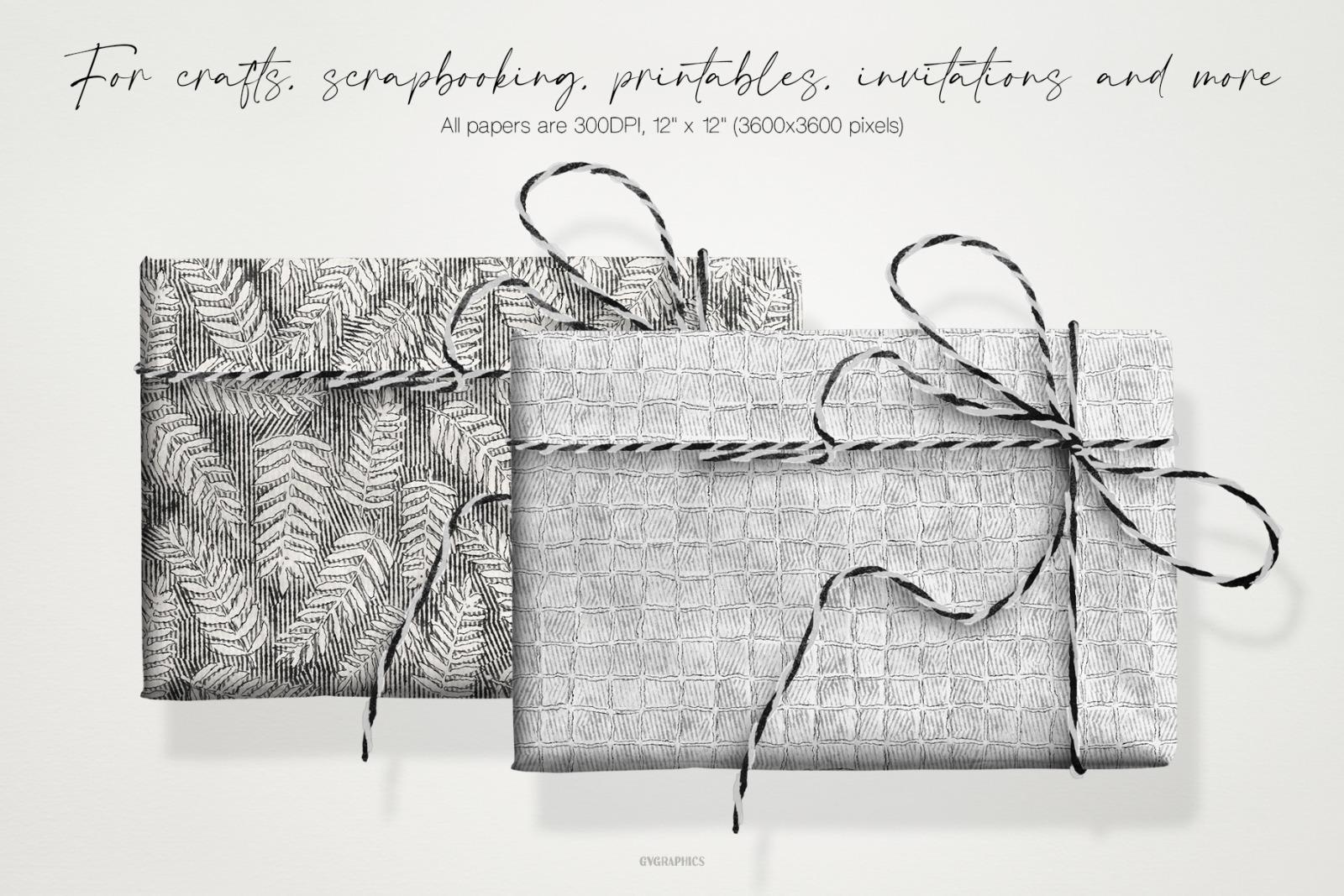 Pencil Textured Drawings Digital Papers