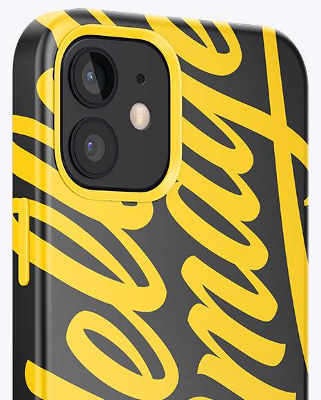 IPhone 12 Case Mockup - Half Side View
