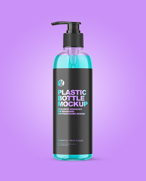 Clear plastic Bottle w/ Pump Mockup