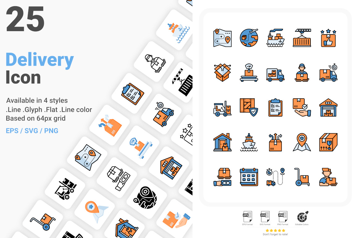 Delivery And Logistic Icon Pack