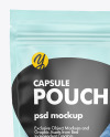 Frosted Plastic Pouch w/ Pills Mockup