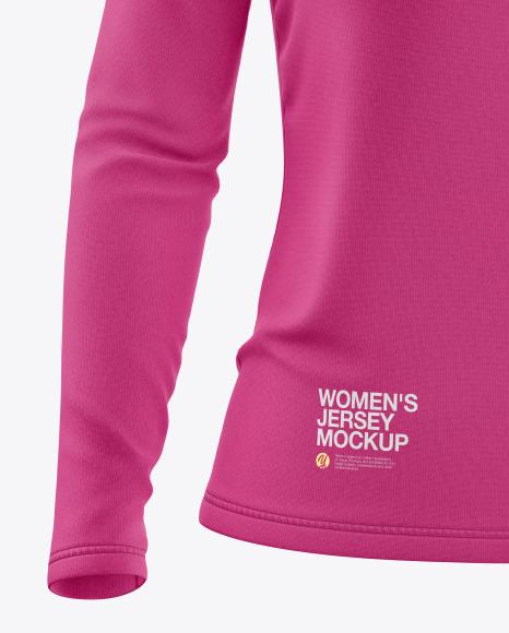 Women's Long Sleeve Jersey Mockup