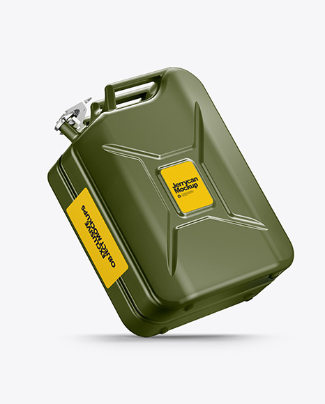 Fuel Jerrycan Mockup - Half Side View