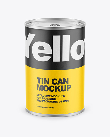 Tin Can w/ Paper Finish Mockup
