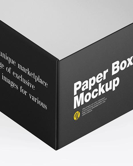 Opened Matte Paper Box Mockup