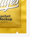 Matte Metallic Square Sachet Mockup