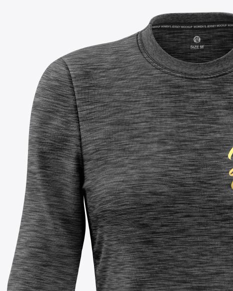 Melange Women's Long Sleeve Jersey Mockup