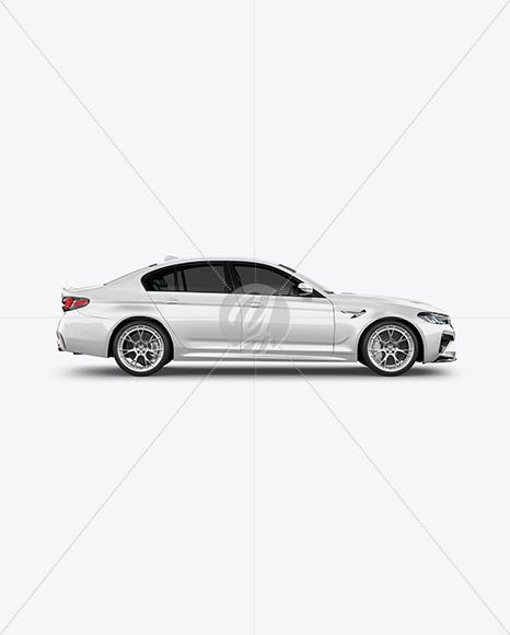 Executive Car Mockup - Side View - Yellowimages Mockups