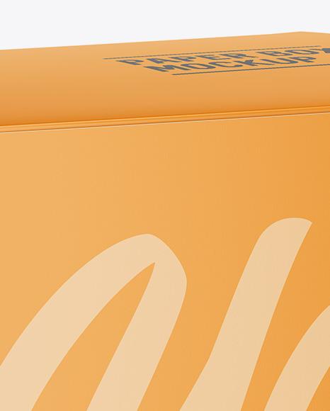 Paper Box Mockup - Halfside View