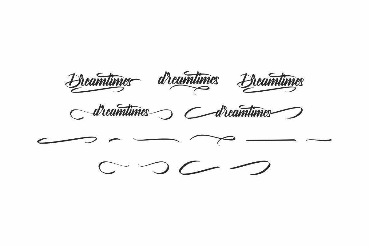 Dreamtimes Calligraphy Font