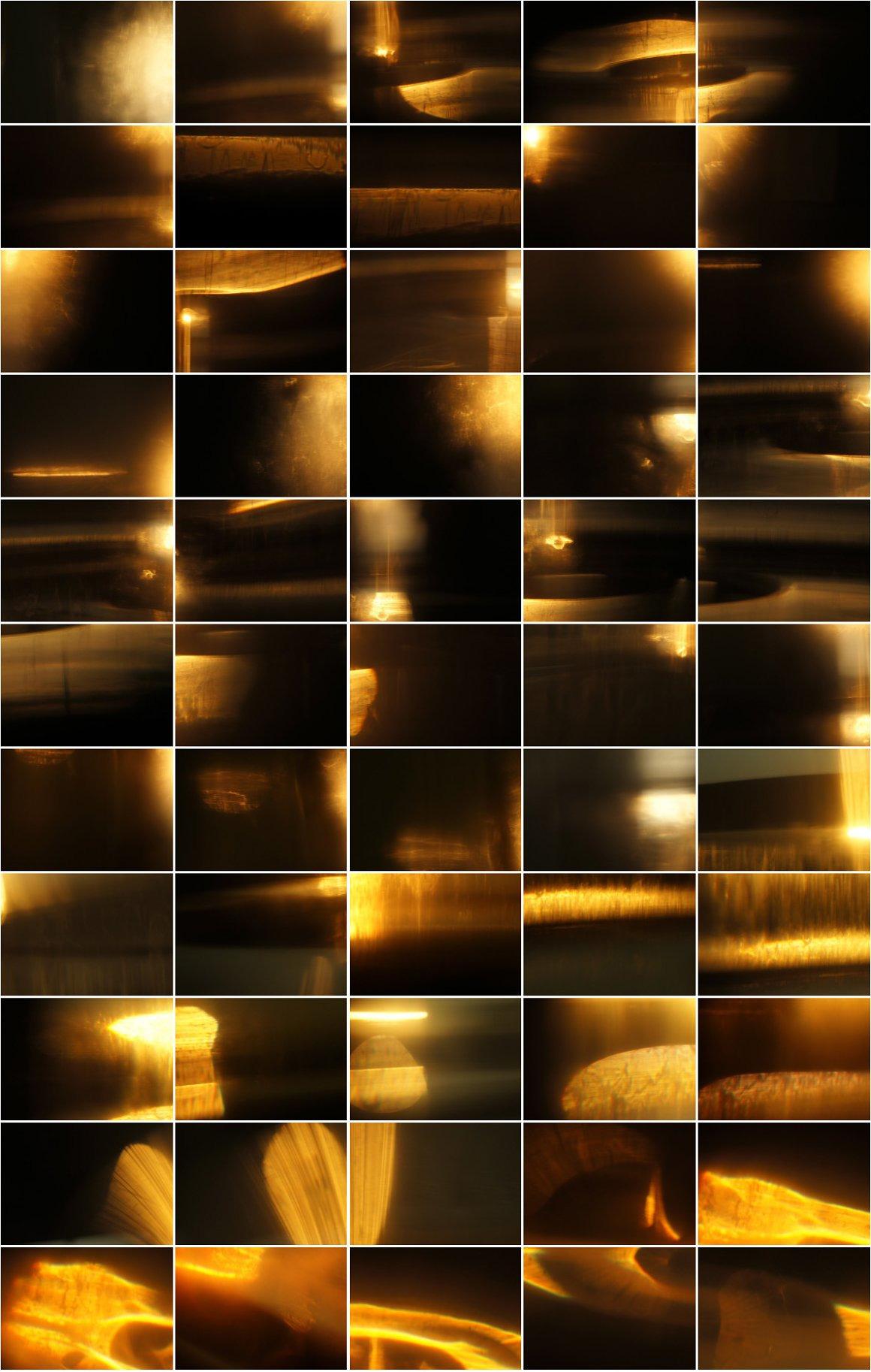 Golden Sun Flare Overlay Effect I
