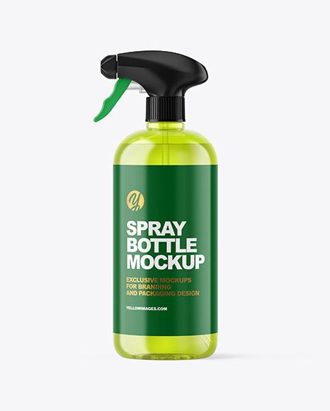 Color Plastic Spray Bottle Mockup