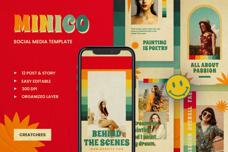 Minico Retro Instagram Template
