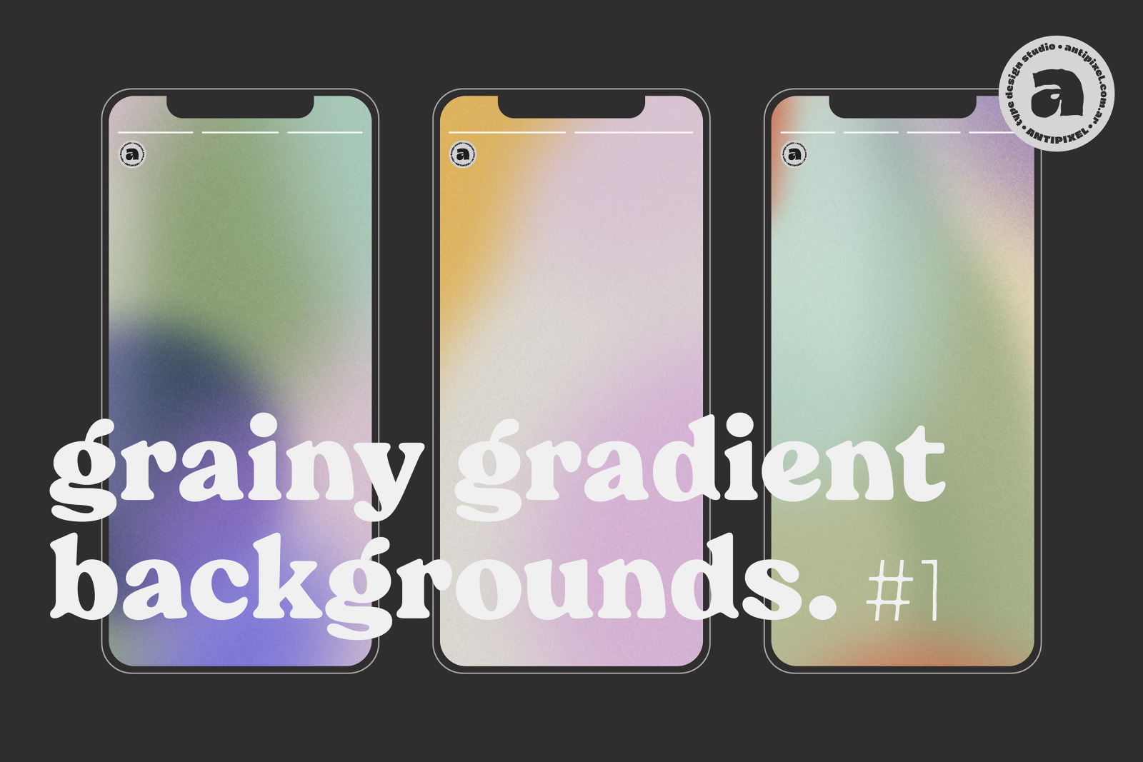 Grainy Gradient Backgrounds #1