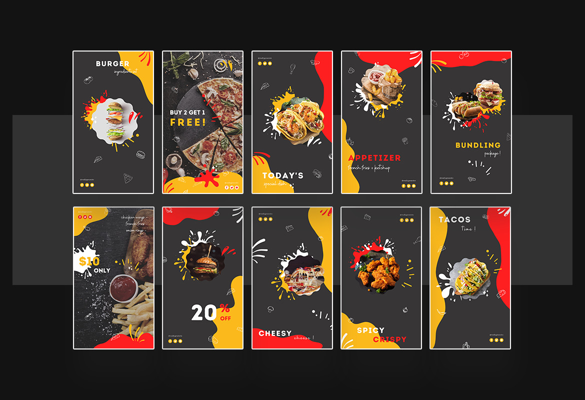 Fun and Dine Fast Food Instagram Template