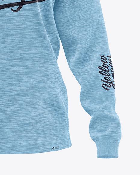 Melange Women's Long Sleeve Sweatshirt - Front View