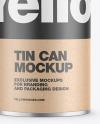 Tin Can w/ Kraft Finish Mockup