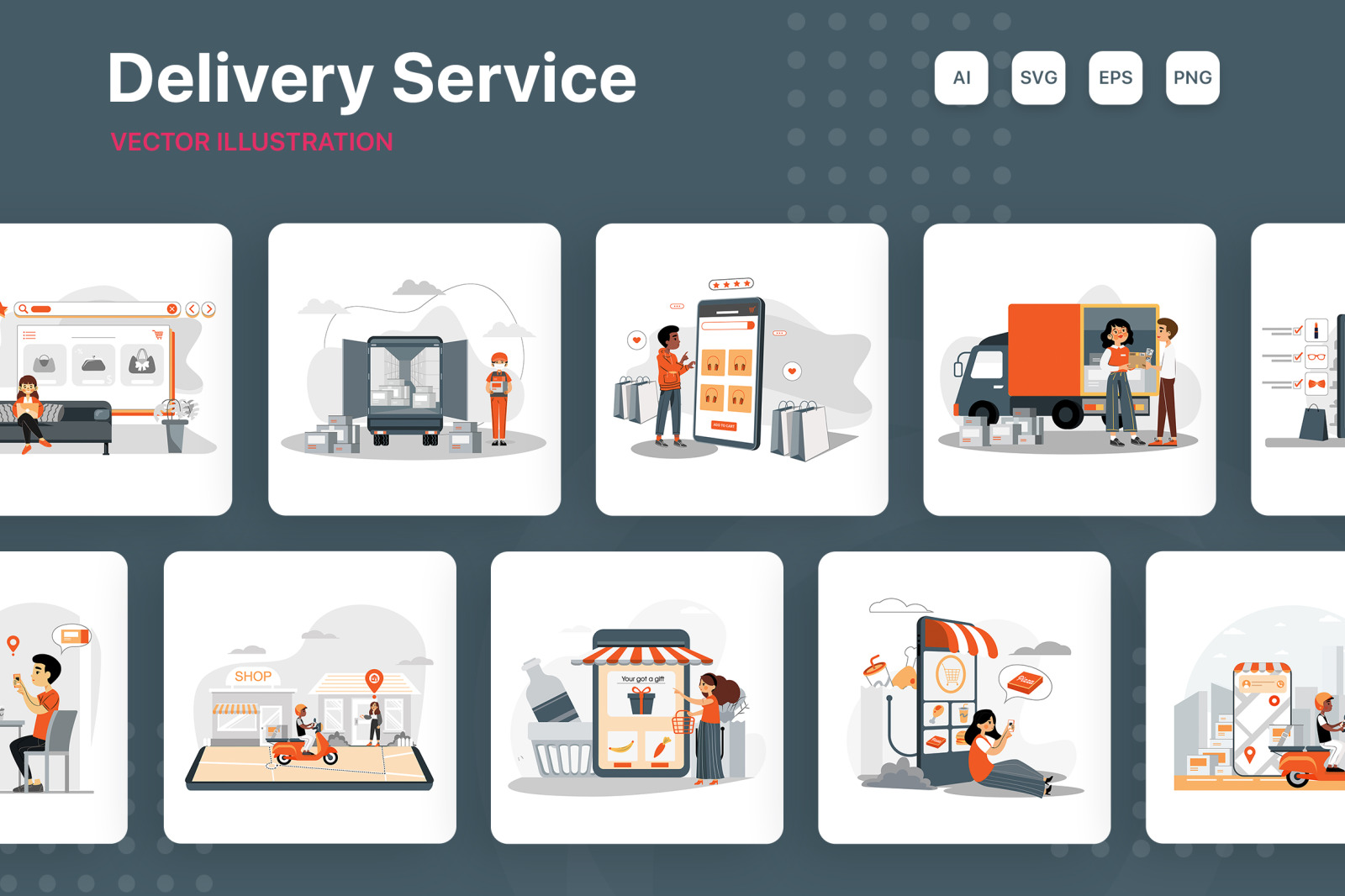 M233_Delivery Service Illustrations