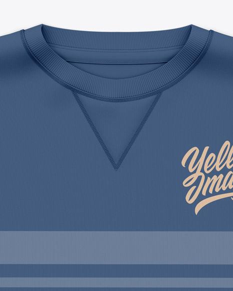 Men's Crew Neck Sweatshirt / Sweater Mockup - Front Top View