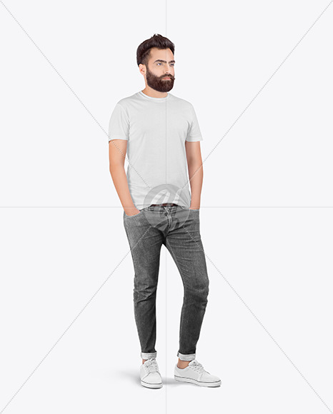 Man in T-Shirt Mockup