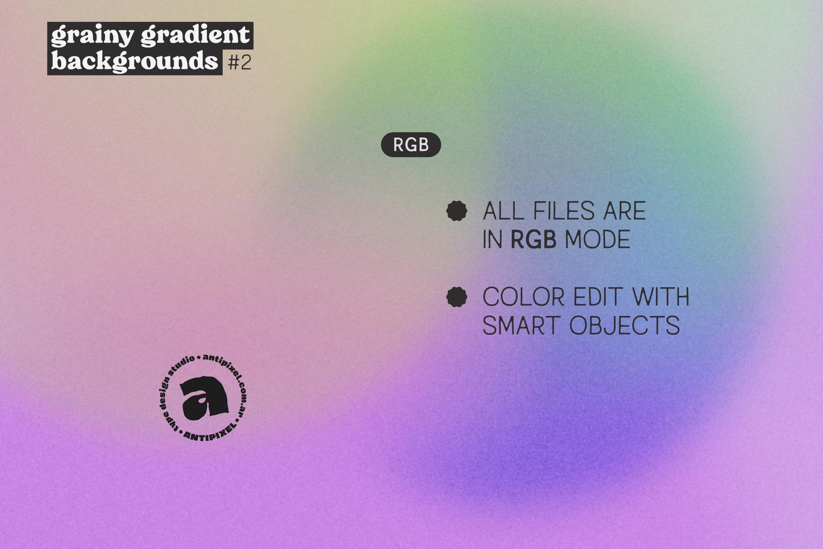 Grainy Gradient Backgrounds #2