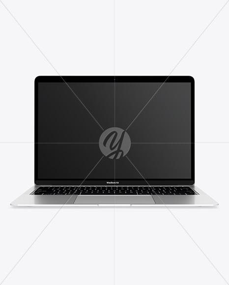 MacBook Air Silver Mockup