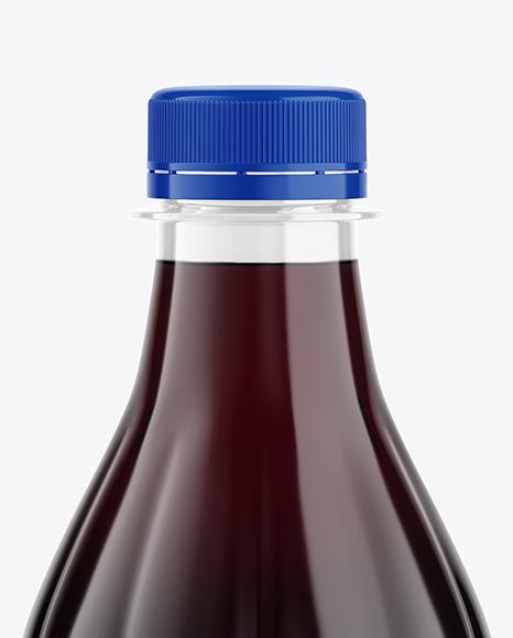 500ml Clear Plastic Dark Drink Bottle Mockup