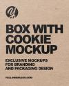 Kraft Box with Cookie Mockup