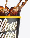 Matte Soda Cup w/ Splash Mockup
