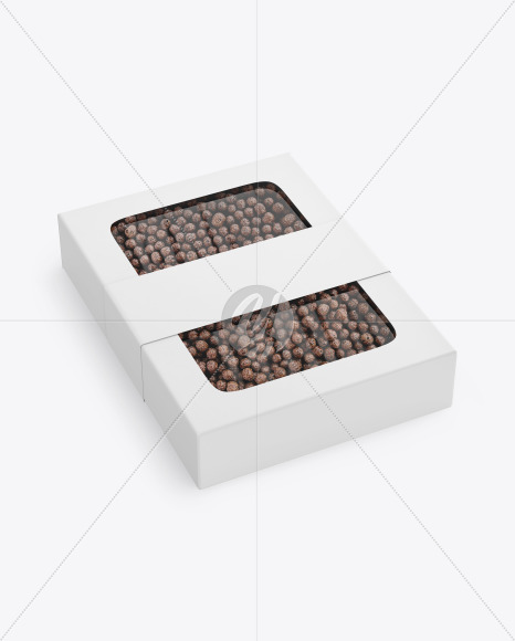 Paper Box With Chocolate Balls Mockup