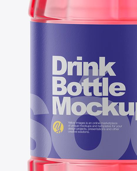 500ml Clear Plastic Drink Bottle Mockup