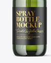 Green Glass Spray Bottle Mockup