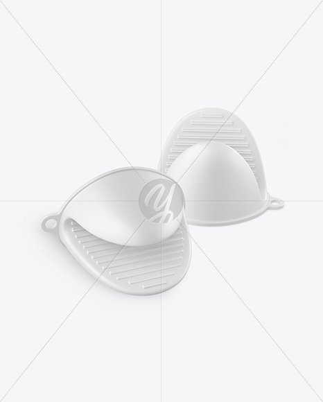 Silicone Oven Mitts Mockup