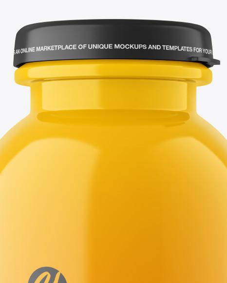 200 ml Glossy Plastic Bottle Mockup