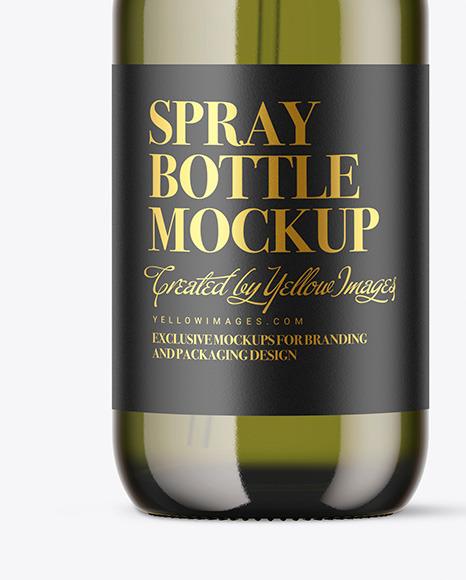 Color Glass Spray Bottle Mockup