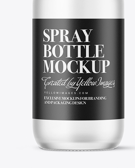 Frosted Glass Spray Bottle Mockup