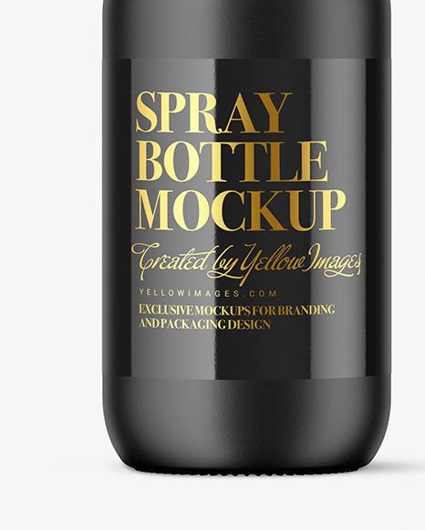 Matte Spray Bottle Mockup