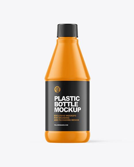 400ml Glossy Plastic Bottle Mockup