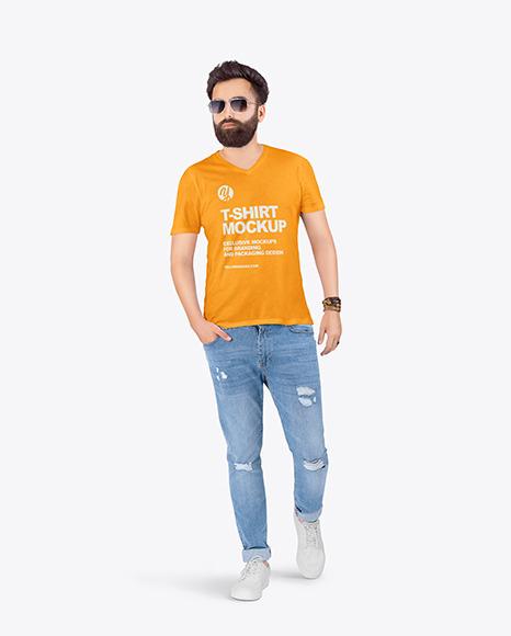 Man in T-Shirt Mockup