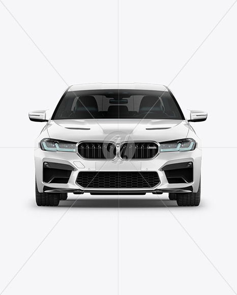 Executive Car Mockup - Front View