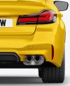 Executive Car Mockup - Back View