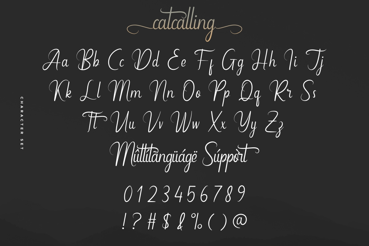 Catcalling Calligraphy Font