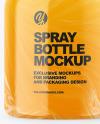 Glossy Plastic Spray Bottle Mockup