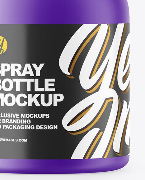 Matte Plastic Spray Bottle Mockup