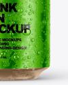 Metallic Aluminium Can with Condensation Mockup