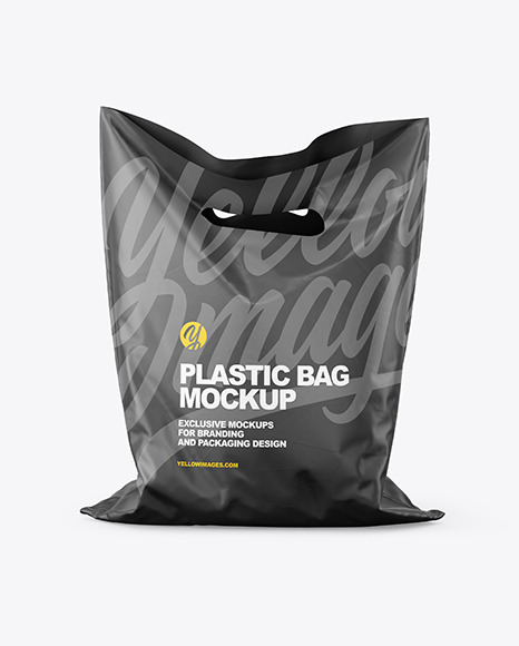 Matte Plastic Carrier Bag Mockup