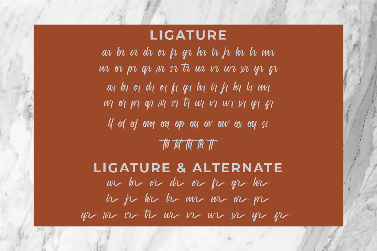 Marilands Calligraphy Font