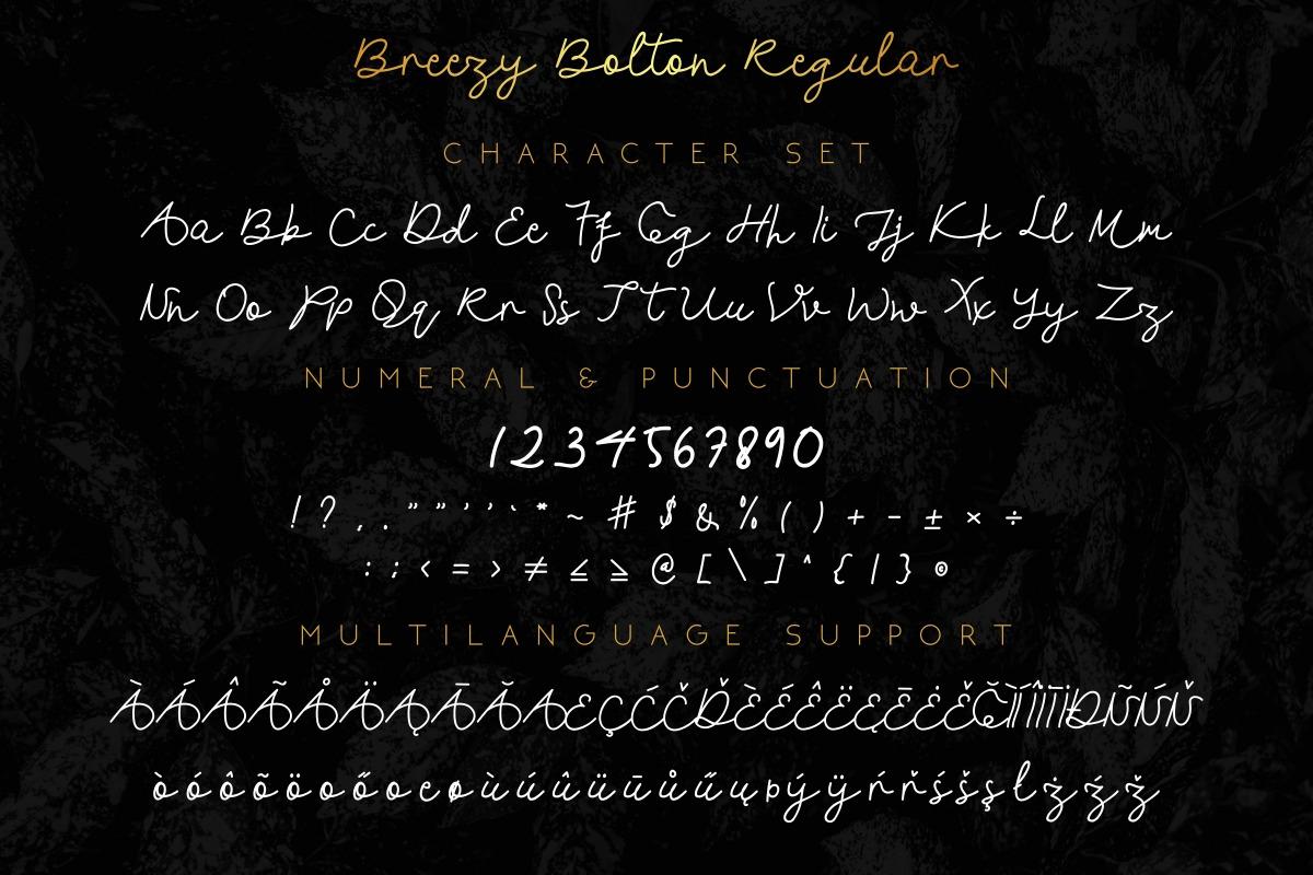 Breezy Bolton Font Duo