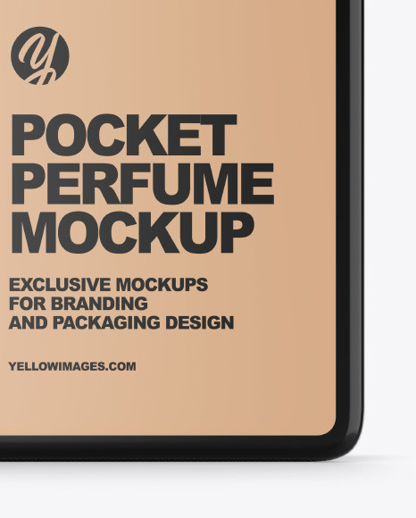 Pocket Perfume With Kraft Box Mockup