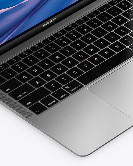 MacBook Air Space Gray Mockup
